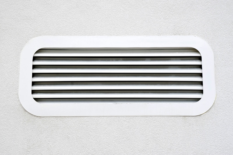 white air conditioning vent