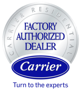 Carrier Residential Factory authorized dealer logo.